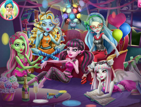 Pizsama parti láz Monster high játk