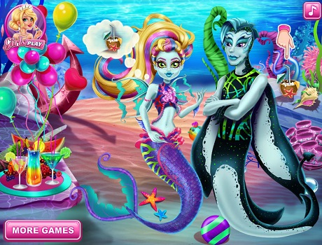 Sellő parti Monster high játék